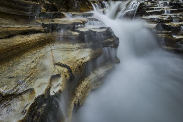 赤川滝前の渓流