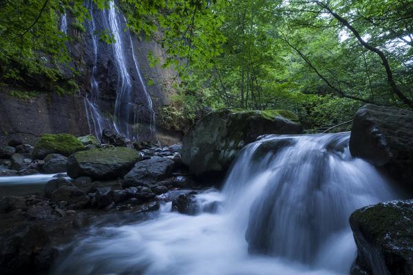 長笹沢川の滝と渓流