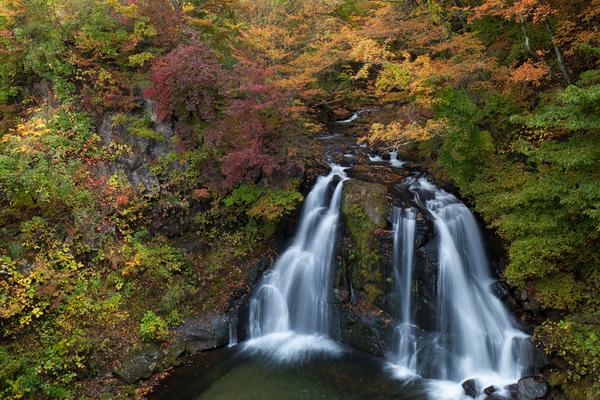 明神滝の紅葉