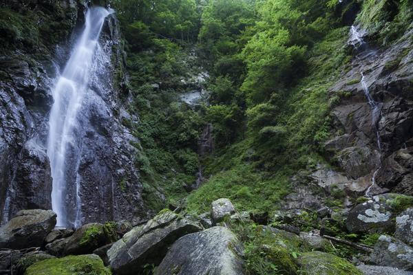 対峙する滝、西丹沢・本棚と涸棚