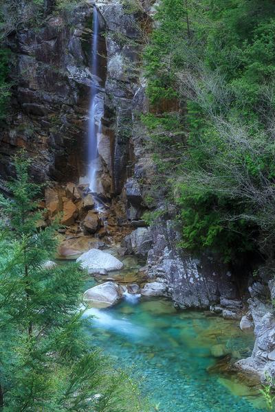 新緑の虹ノ滝