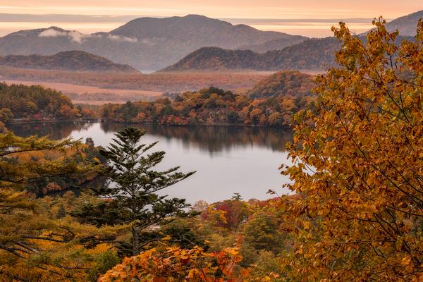 奥日光の秋の朝